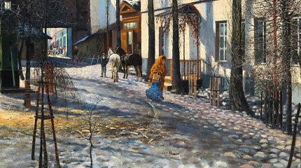 """Vilniaus paveikslų galerijoje – M.Römerio paveikslas """"Pavasaris Vilniuje"""""""