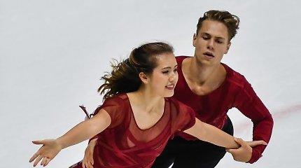 Kitoks lygis: Lietuvos šokėjų ant ledo pora pademonstravo puikų laisvąjį šokį