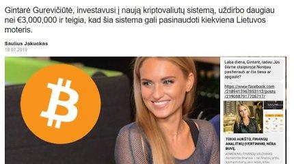 Sukčiai rado naujų aukų: internete platina klaidingą informaciją apie Gintarę Gurevičiūtę