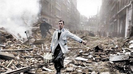 Ugnis ir griuvėsiai: pamatykite, kaip atrodė Londonas 1940 m. per nacių bombardavimą