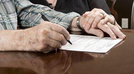Apie prosenelio testamentą po 15 metų netyčia sužinojusią moterį valstybė nori palikti be palikimo