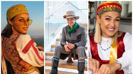 Socialinių tinklų žvaigždės pasimatavo tautinį kostiumą: už to slypi graži misija