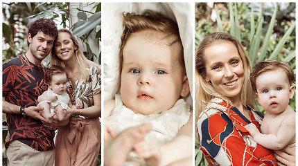 """Pirmoji Inetos Stasiulytės ir Deivido Meškausko dukters Frėjos fotosesija: """"Ji – tikra tėčio kopija"""""""