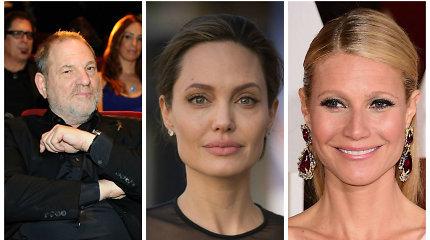 Nuo Holivudo magnato H.Weinsteino priekabiavimo kentėjo G.Paltrow, A.Jolie ir kitos žvaigždės