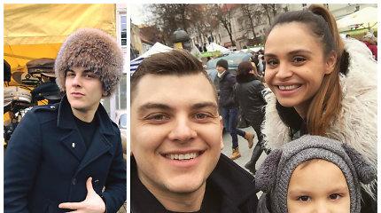 """Rolando Mackevičiaus laimikis iš Kaziuko mugės – kailinė kepurė: """"Juokėmės, kad dabar panašus į Kirkorovą"""""""