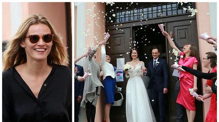 Ištekėjo rankinių kūrėjos Irenos Serapinienės dukra Inga: tarp svečių – garsiausias Lietuvos modelis Edita Vilkevičiūtė
