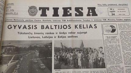 Baltijos kelio atgarsiai: kaip į akciją reagavo Sąjūdžio ir kaip – komunistinė spauda?