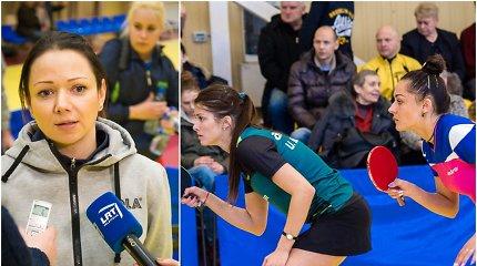 Kuriozas stalo tenise – žaidėja į Lietuvos rinktinę buvo patekusi prieš trenerės valią