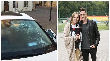"""Vaida ir Deividas Česnauskiai surado """"Audi A7"""" apgadinusius vandalus – pradėtas ikiteisminis tyrimas"""