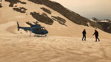 Rusvai nusidažę ledynai Naujojoje Zelandijoje