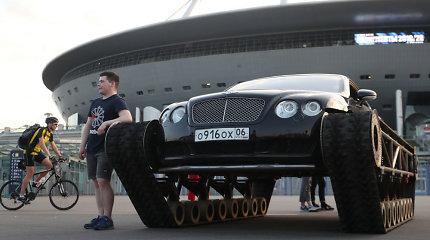 """""""Bentley Continental GT"""" su tanko vikšrais"""
