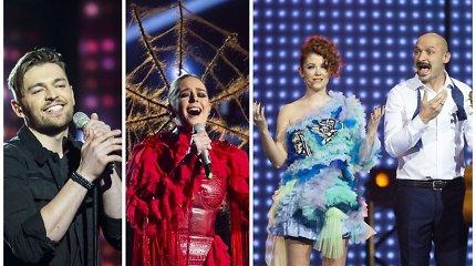"""Trečiosios """"Eurovizijos"""" atrankos lyderiai – charizmatiškasis Jurijus Veklenko ir lyriškoji Monika Marija"""