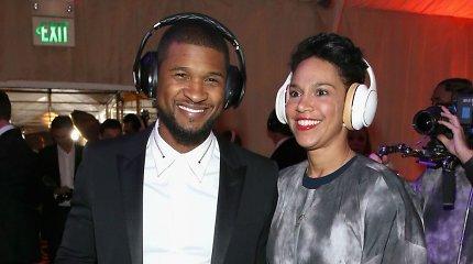 Ritmebliuzo žvaigždė Usheris skiriasi su žmona Grace Miguel