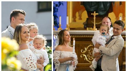 Inetos ir Ąžuolo Žvagulių sūnaus Bernardo šventė: pakrikštijo ten, kur ir senelį Žilviną Žvagulį