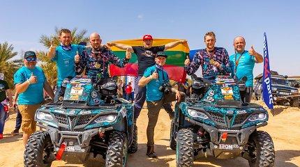 """""""CFMOTO Factory Racing Team"""" duetas iš Sacharos grįžta su Fenikso ralio medaliais"""