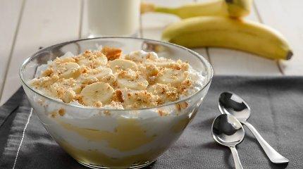 Bananų-meduolių desertas, kurį mamai paruoš net darželinukas