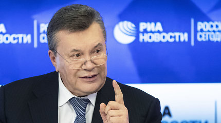 Latvijos konfiskuoti 29 mln. eurų RIB sąskaitoje priklausė V.Janukovyčiaus aplinkai
