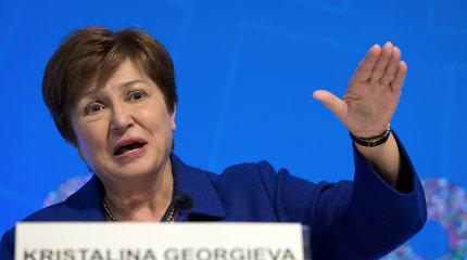 """TVF vadovė K.Georgieva perspėjo: pasaulinė ekonomikos krizė """"dar toli nuo pabaigos"""""""