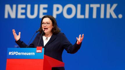 Vokietijos socialdemokratams pirmą kartą vadovaus moteris