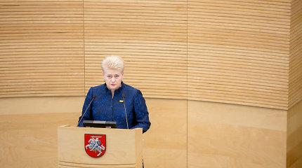 D.Grybauskaitė: mokesčių didinimas lėtėjant ekonomikai yra klaida