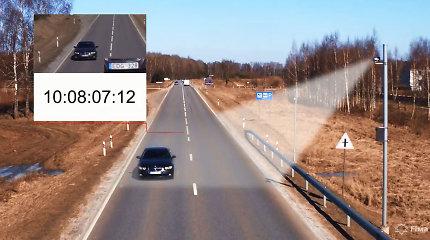 Vidutiniai greičio matuokliai užfiksavo daugiau nei 37 tūkst. pažeidimų