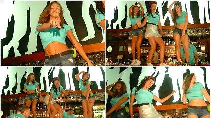 """Projektas """"2 Barai"""": merginų šokiai ant baro, ugnies šou ir linksmybės iki paryčių"""