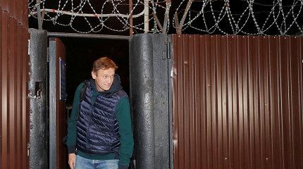 Vladimiro Putino kritikas Aleksejus Navalnas paleistas iš kalėjimo