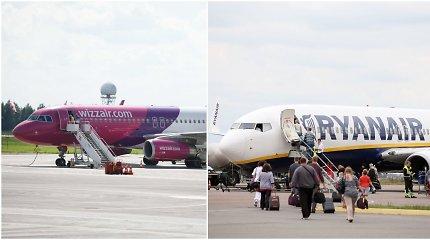 """Konkurencija: """"Ryanair"""" ir """"Wizz Air"""" tuo pačiu metu paskelbė apie naują kryptį iš Vilniaus"""