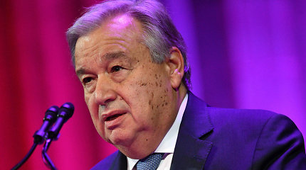 JT vadovas A.Guterresa ragina šalis nepasiduoti kovoje su klimato kaita