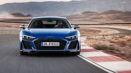 """Greičiausias """"Audi"""" modelis tapo dar pažangesnis: R8 sulaukė svarbaus atnaujinimo"""