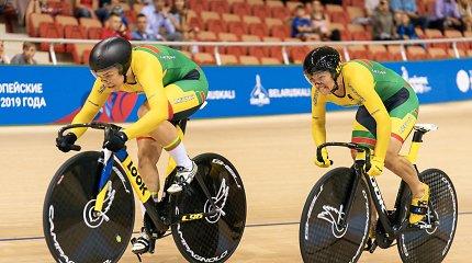 Lietuvių dviratininkių duetas Europos čempionate – per plauką nuo medalių