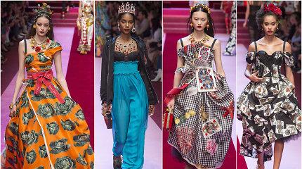 """Naujausia """"Dolce & Gabbana"""" kolekcija: gėlės, daržovės ir širdžių karalienės"""
