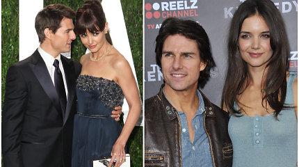 Keistos Katie Holmes ir Tomo Cruise'o vestuvės: įžadai apie kates, šukas ir pabėgusios nuotakos baimė