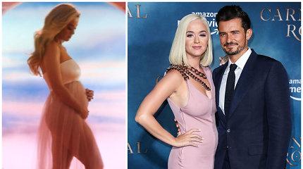 Su Orlandu Bloomu vaiko besilaukianti Katy Perry atskleidė pirmagimio lytį