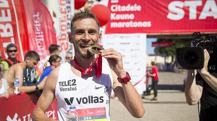 Pergalės Kauno maratone tapo tramplinu – R.Kančys ir I.Brasevičius metus pradėjo rekordais