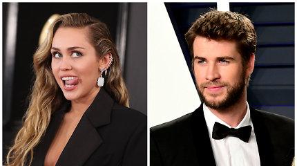Oficialiai nutraukta Miley Cyrus ir Liamo Hemswortho santuoka: turtą pasidalijo greitai ir be ginčų