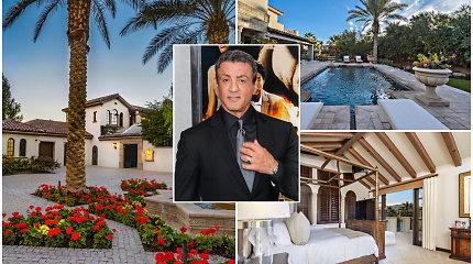 Sylvesteris Stallone įspūdingo grožio rezidencijai ieško naujo šeimininko: tinka ir poilsiui, ir šventėms