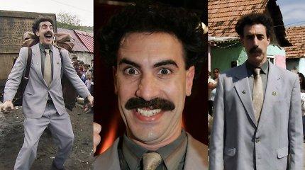 """Borato """"gimimas"""": kaip naują komedijos formą atradusio komiko personažas tapo pasauline žvaigžde?"""