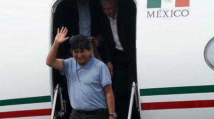 Buvęs Bolivijos prezidentas E.Moralesas iš Argentinos išvyko į Venesuelą