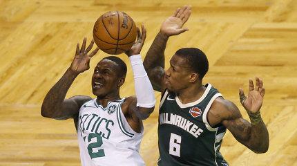 """""""Celtics"""" neteko lyderio, bet prasibrovė į kitą NBA atkrintamųjų etapą"""