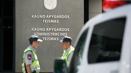 """Pranešimas apie bombą Kauno apygardos teisme: """"Aro"""" pareigūnai sprogmenų neaptiko"""