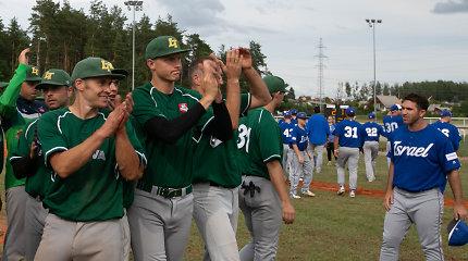Istorinio žygio surengti nepavyko – Lietuvos beisbolo rinktinė pralaimėjo Izraeliui