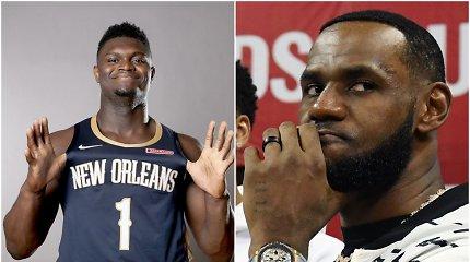 NBA eksperto nuomonė: LeBronas įmes 60 taškų prieš Zioną Williamsoną