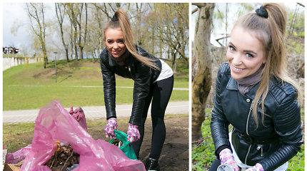 """Akcijos """"Darom"""" švaros patrule tapusi Monika Šalčiūtė: """"Ne madų demonstruoti čia einame"""""""