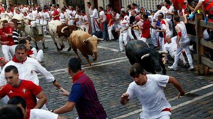Per greičiausią šiais metais bėgimą su buliais Pamplonoje niekas nebuvo subadytas