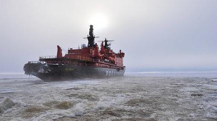 Rusija iki 2030-ųjų turės laivybą Arktyje ištisus metus užtikrinantį ledlaužių laivyną