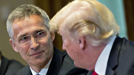 D.Trumpas Vašingtone susitiks su NATO vadovu