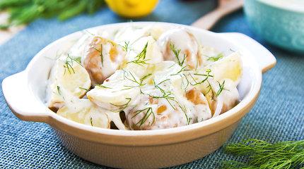 Savaitgaliui – patiekalai iš šviežių bulvių: nuo gaivių mišrainių iki blynų su grybų padažu