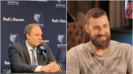 """Naujasis """"Grizzlies"""" treneris vos tramdė ašaras ir pasakojo apie J.Valančiūno žvejybą"""