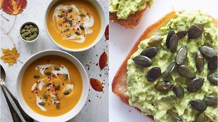 auGalingas pirmadienis: moliūgų sriuba ir skrebučiai su avokadais ir moliūgų sėklomis